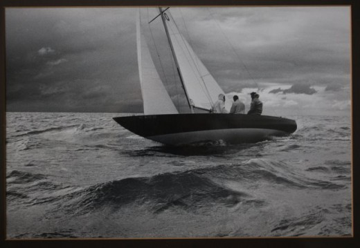 Etchells 22, Bob Sellers' Assault III, GLYC Fall Series on Lake St Clair, circa 1979