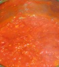 The Tomato Pasta Sauce: cooked and ready to use.