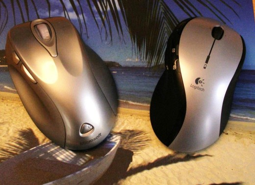 Microsoft and Logitech Wireless Mouse