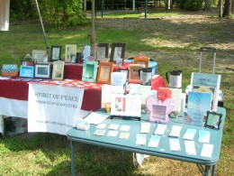 Vendor booth for Spirit of Peace Inspirational Novelties