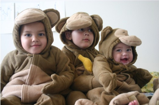 Three Little Monkeys Copyright Jacob Kongaika