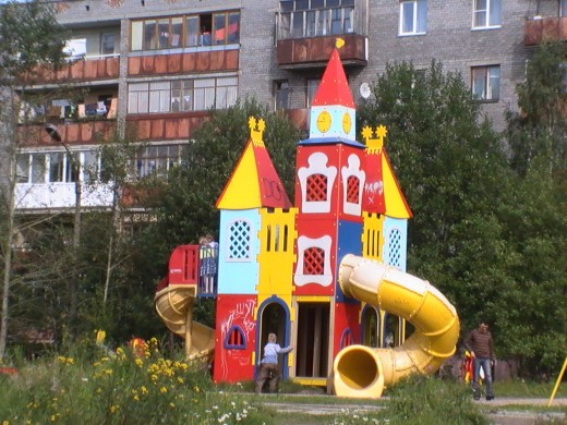 Children's park in Kandalaksha, russia 16aug09