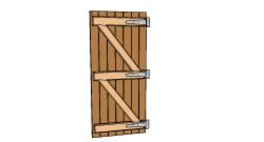 Ledged and braced door