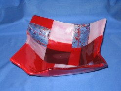 Origami Slumped Glass Bowl