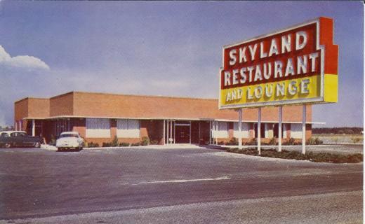 Vintage Postcard of Skyland Restaurant