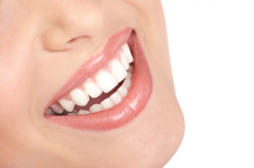 Teeth Whitening Strips - Typical Model Smile You Expect To See