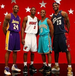 The Quartet of Kobe Bryant of the LA Lakers, Dwayne Wade of Miami Heat, Chris Paul Of New Orleans Hornets and Lebron James of Cleveland Cavs.
