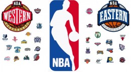 The different logos of NBA teams.