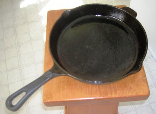No. 1 cooking tool, cast iron skillet. Bob Ewing photo