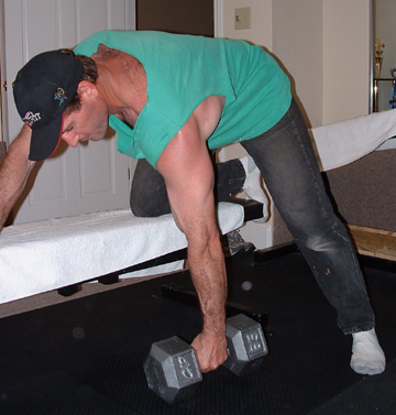 Start your bent over row like this
