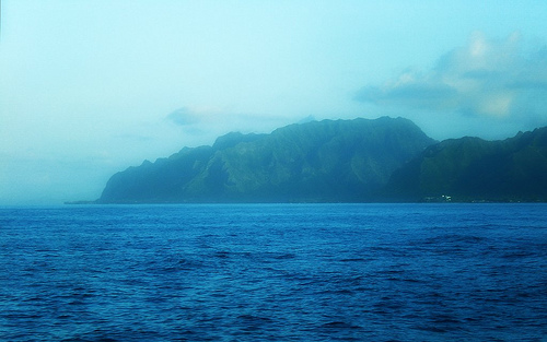 From the Point at Laie on Oahu, Hawaii   Copyright Ruth Elayne Kongaika