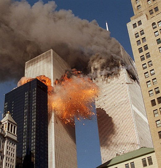 World Trade Center Buildings on Fire
