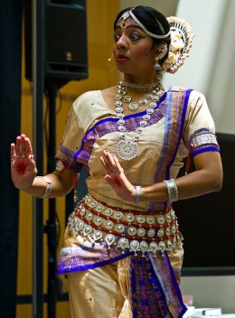Niharika Mohanty demonstrates one of the nine moods expressed in Odissi - Thanks to thaths