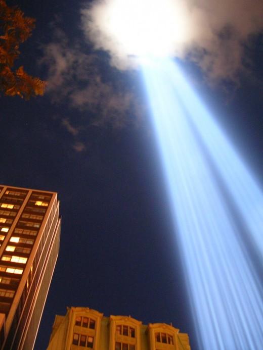 9/11 Sky Light Beams