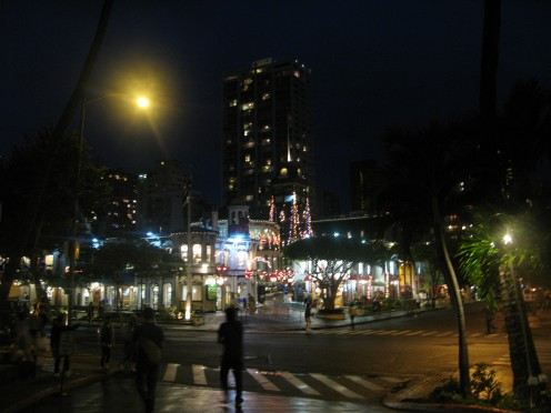 Kalakaua Waikiki at Night