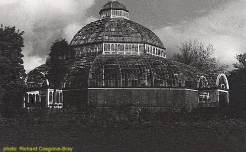 The elegant Victorian palm house prior to restoration.