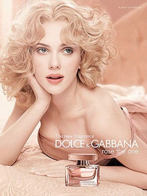 Scarlett Johansson for Dolce & Gabbana Rose The One
