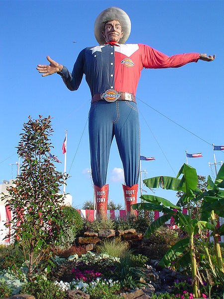 Big Tex of the State Fair of Texas (photo credit: Wikipedia Commons)