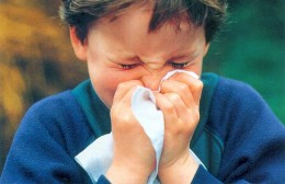 A child suffering from cold and cough