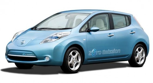 Nissan Leaf three quarter view