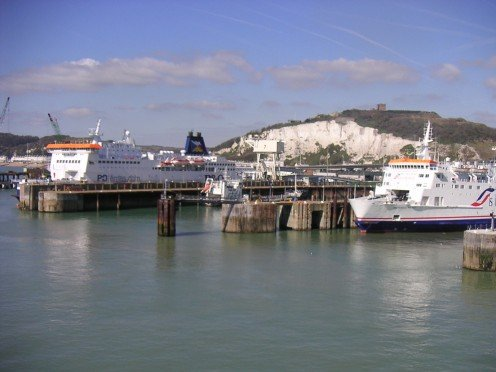 Dover Ferries - And White Cliffs