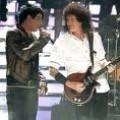 Adam Lambert and Brian May of Queen