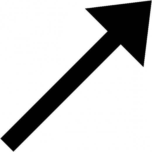 A KET arrow. It's not just a vector. The Ket arrow lives in something called a Hilbert Space. A state |A  when added to another exactly the same does not produce one twice as big. It remains the same state |A