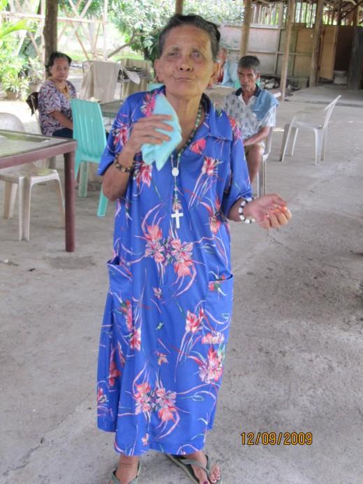 Lola (Grandma) dancing.