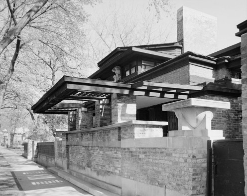 Frank Lloyd Wright's home and studio - Oak Park, a Chicago suburb.