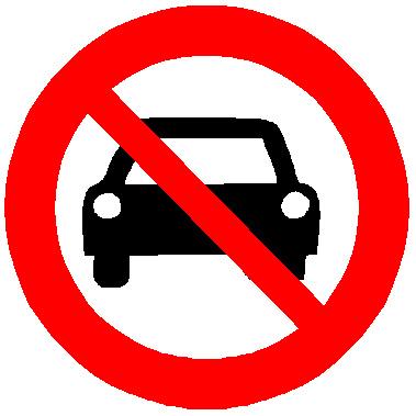 No cars allowed inside a building;)