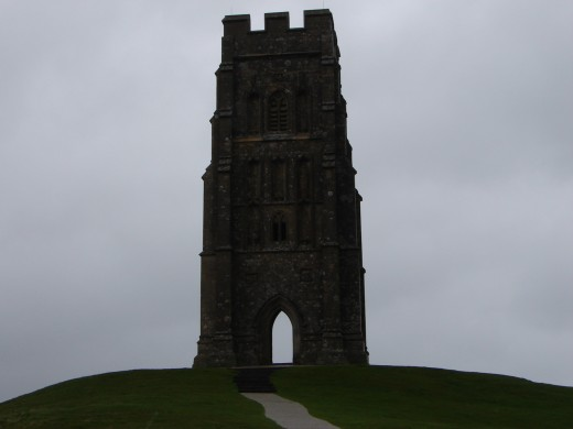 Through the tower on Glastonbury Tor. Into the mists of Avalon.