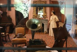 You can see the ancestor to the phonograph, record player, cassette player, CD player...etc...