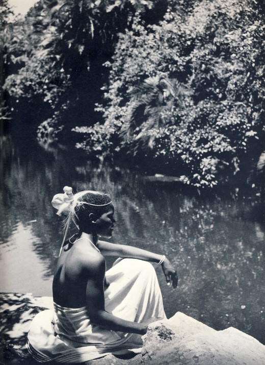 """A modern Nongqawuse looks into the pool on the Gxara River"" - from the book ""African Elegance"""