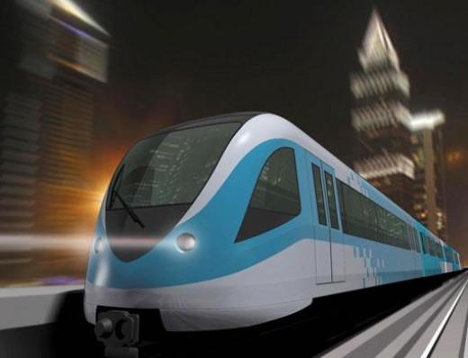 dubai metro new train