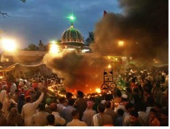 In spring each year, a festival is held at the tomb of Shah Hussain in the city of Lahore. Devotees light earthen lamps at the start of the of festival. Lighting of lamps is a metaphor for killing the inner darkness in ourselves.
