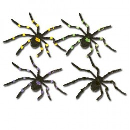 Furry spider decorations