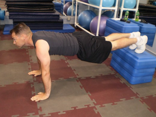 The Elevated Push-up start