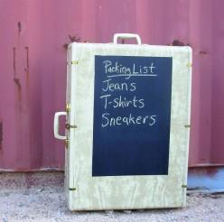Vintage Suitcase Chalkboard