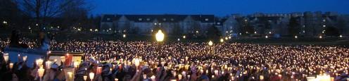 Virginia Tech Candlelight Vigils