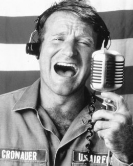 "Robin Williams in ""Good Morning Viet Nam"