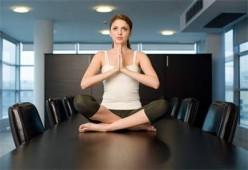 Performing Yoga Exercises At Work
