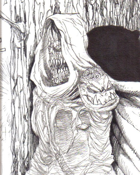 Evil creatures have always been a favourite of mine to draw for some reason, I seem to draw demonic creatures and other vilainous bad arse creatures quite often, whilst this is a good exercise, try to draw other things within your selected genre.