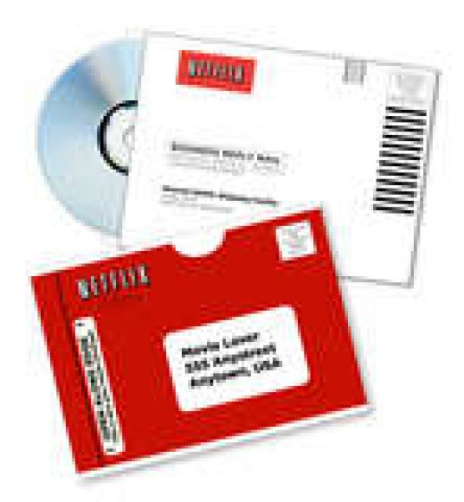 When you are done you just put the DVD back in the self addressed postage paid mailer and put it out for the mail person.
