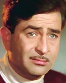 Raj Kapoor, as he appeared in his colour films