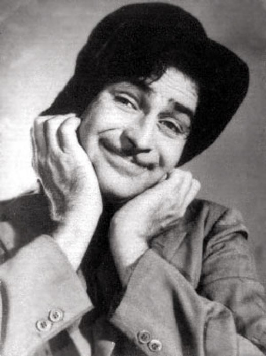 Popular image of Raj in his black and white films