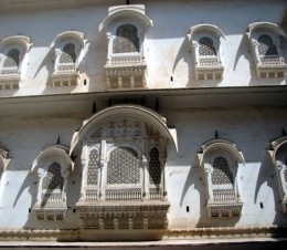 A section from 'Nineteen jarokhas for nineteen queens'. Junagarh fort,Bikaner.