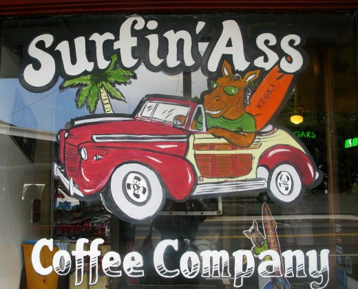 Window Coffee Ad