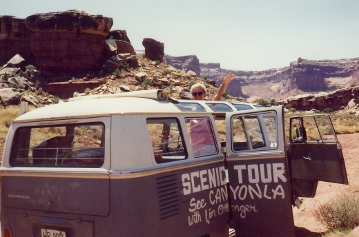 This was our Scenic Tours vehicle in Canyonlands National Park.