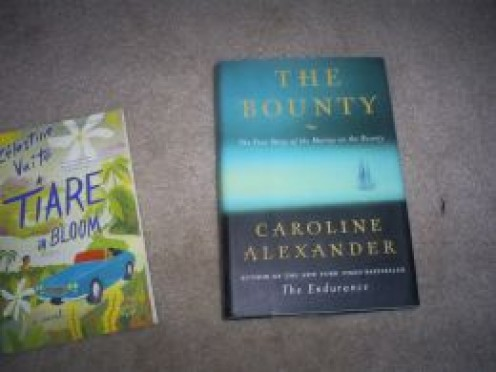 Two of my favorite books.  The Bounty and Tiare in Bloom are not best sellers, but they are still my favorites!