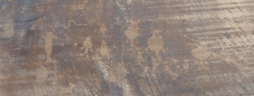 Numerous petroglyphs can be found in Canyonlands National Park